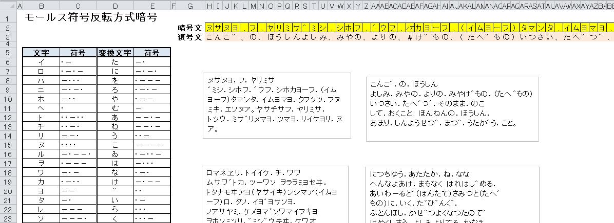 方法 解読 モールス 信号