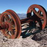 GIMPで加工:汽車の車輪とインカ道