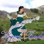 GIMPで加工:アンデスの緑のドレスの踊り子